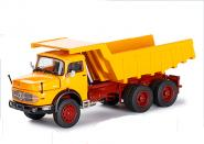 MB LAK 2624 Round bonnet truck 3-axle with quarry rock body, yellow