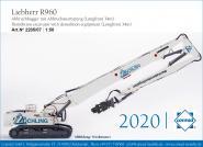 "LIEBHERR Excavator R960 with Demolition and backhoe boom ""Zöchling"""