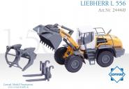 LIEBHERR Wheel Loader L556 IND with Tree Grab, Forks and Bucket.