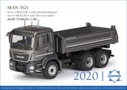 MAN TGS Euro 6c 3axle with MEILLER 3-Side Tipper, grey