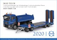 MAN TGS M 3axle Tipper with SCHWARZMÜLLER 4axle Lowboy, blue