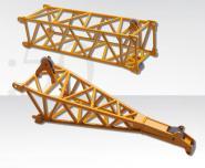 Gittermastspitze für LR/LG1750 (Windkraftanlagenmontage), gelb