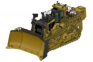 CAT Dozer D11T with Single-Shank Ripper