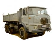 KRUPP 3axle dump truck SF360, grey