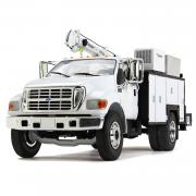 FORD FD-650 with Maitainer Service Body, white