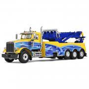 PETERBILT 367 mit Abschleppausrüstuing, gelb/blau