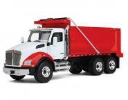 KENWORTH T880 mit Kipper, weiß/rot
