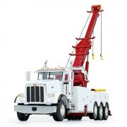 PETERBILT 367 with CENTURY Rotator Wrecker, white-red-yellow