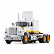 MACK R Model with Sleeper Cab, white/orange/black