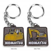 """Keychain 2-sides (Dozer and Excavator) """"Komatsu"""""""