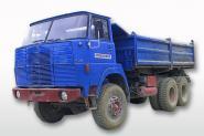 HENSCHEL F261 6x6 Kipper, blau/rot