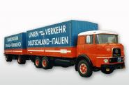 KRUPP F380 Truck and Trailer, red