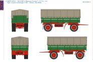 Anhänger 2achs Pritsche/Plane, grün