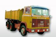 SCANIA 140 6x4 Kipper, gelb