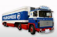 """SCANIA 141 4x2 mit 2achs Kühlauflieger """"Anhalt / Polar Express"""""""