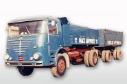 BÜSSING Commodore LU11 with Dumptrailer / Hamburger cab, blue