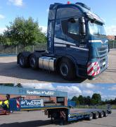 "IVECO Stralis 6x2 with 4axle Semi-Low-Loader ""Wocken"""