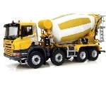 SCANIA P380 4axle concrete mixer, yellow
