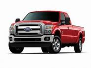 FORD Pick Up F250 XLT w. Super Cab and 8'' Bed, red