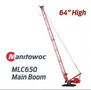 MANITOWOC Raupenkran MLC650 mit langem Hauptmasten