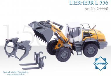 LIEBHERR Radlader L556 IND mit Holzgreifer, Ladegabel und Schaufel