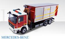 """MB Actros 3achs WLF mit Abrollbehälter und Kranaufbau """"Feuerwehr"""""""