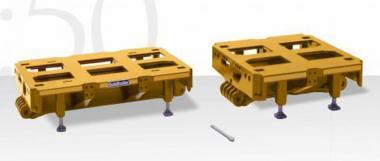 GOLDHOFER 2 + 3achs Hochbett (3m breit), gelb
