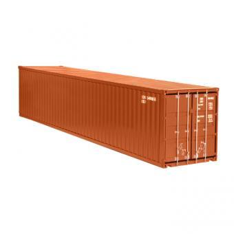 40 Fuß Container, braun