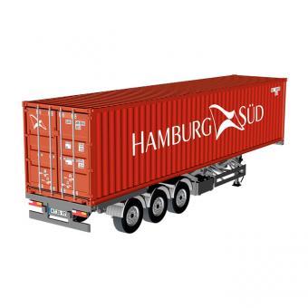 """Sattelauflieger EU mit 40 Fuß Container """"Hamburg-Süd"""""""