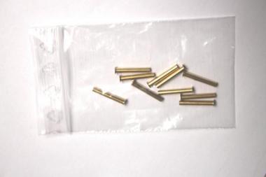 10 Rohrnieten A3 x 0,25 x 21,0 mm, blank, Messing, DIN7340