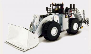 CAT Wheel Loader 994K with Coal Bucket, white