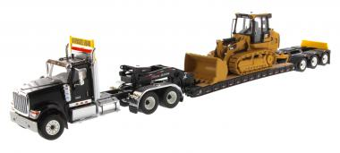 INTERNATIOL HX520 + Lowboy XL120 + CAT Track Loader 963K