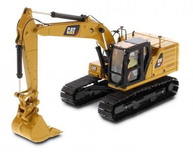 CAT Bagger 323 NEXT mit 4 Anbauteilen