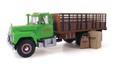 "MACK R 3axle Stake truck with load ""Steiger Tractor Inc."""