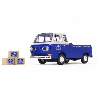 FORD Econoline Pickup von 1960 mit 3 Kisten, blau