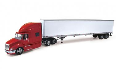 INTERNATIONAL ProStar+ 3axle with 2axle Trailer, red-white