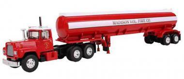"""MACK R Model mit 42´Tankwagen-Auflieger """"Madison Vol. Fire Co."""""""