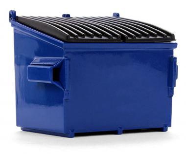 Mülltonne, blau