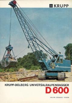 KRUPP DOLLBERG Seilbagger D600 mit Gittmasten und Greifer