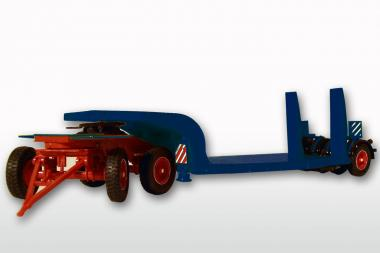 LANGENDORF 3achs Tiefladeranhänger, blau