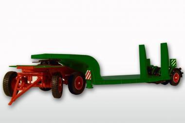 LANGENDORF 3achs Tiefladeranhänger, grün