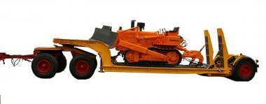 LANGENDORF 3achs Tiefladeranhänger, orange