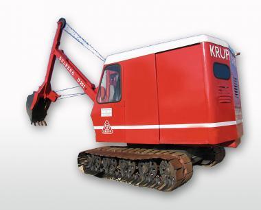 KRUPP DOLBERG Seilbagger D200 mit weißem Dach, rot