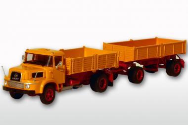 KRUPP AK 1060 2achs Kipper mit 2achs Anhänger, gelb/orange