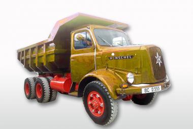 HENSCHEL 3achs Muldenkipper HS22 HAK, orange