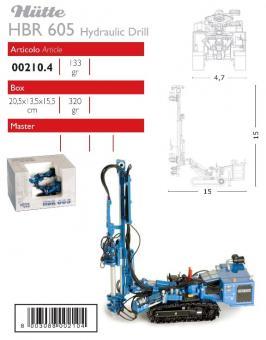 HÜTTE Ankerbohrgerät HBR605, blau