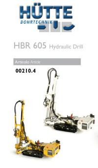 HÜTTE Hydraulic Drill Rig HBR605, yellow