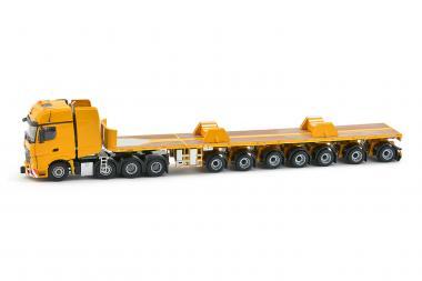 MB Actros2 Gigaspace 8x4 mit NOTEBOOM 7achs Ballasttrailer und boom saad
