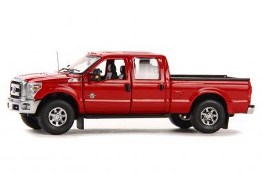 FORD F250 Pickup mit CrewCab und 6` Bett, rot/chrom