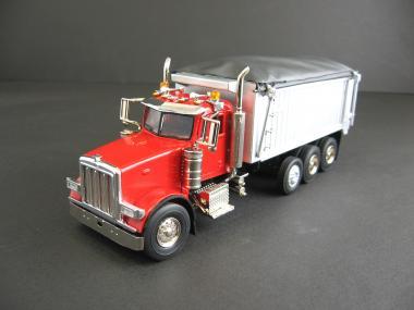 PETERBILT 357 Rigid w/East Genesis Dump, red